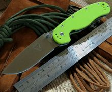 Bright Colour Camping Knives Hunting Tactical Survival Folding Knife With Sand Light Surface 9CR18MOV Blade G10 Handle