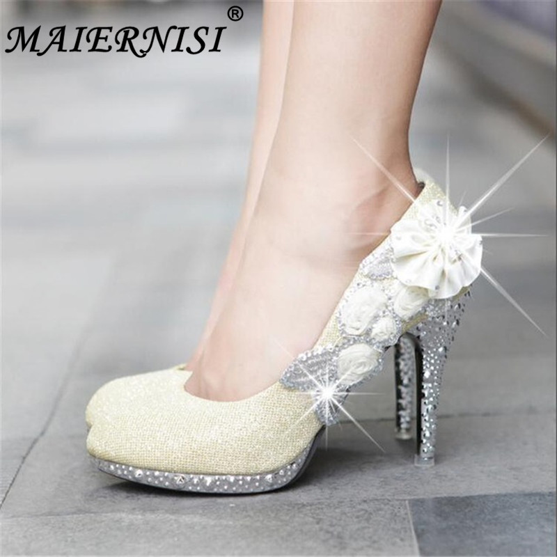 Buy silver high heels size 9 and get free shipping on AliExpress.com b1f001b1bb09