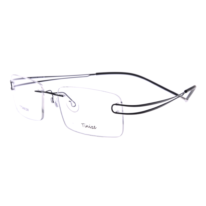 20d5c37a9a Light weight 8 Colors Two claws Rimless Optical Glasses Memory Titanium  Eyeglasses Prescription Rx Optical Frames Demo Lens Only-in Eyewear Frames  from ...