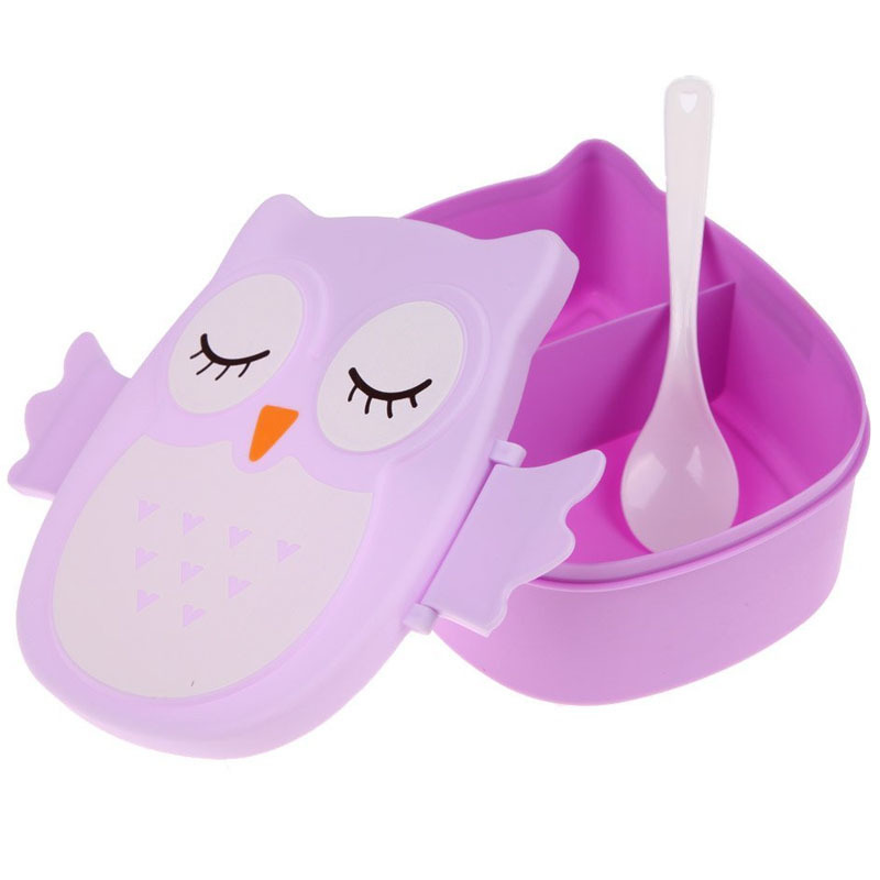 High Quality Owl Lunch Bento Box Plastic Food Container Cartoon Tableware Dinnerware Cutlery Set For Kid Japanese Food Box Case-in Dinnerware Sets from Home ...  sc 1 st  AliExpress.com & High Quality Owl Lunch Bento Box Plastic Food Container Cartoon ...