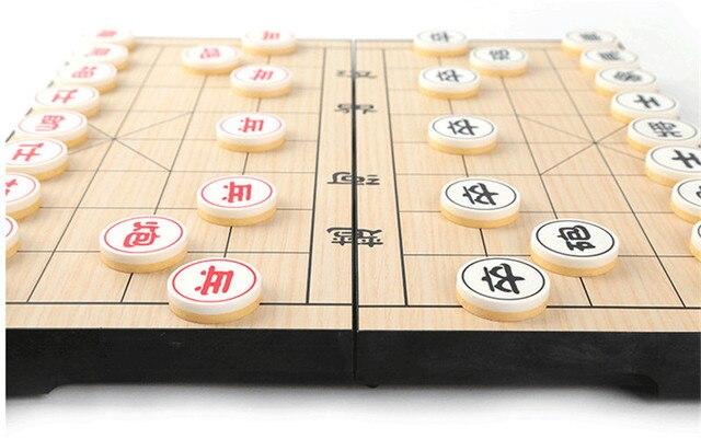 Xiangqi-jeu d'échecs chinois Portable, jeu magnétique pliable, 25x25x2cm, F227 4
