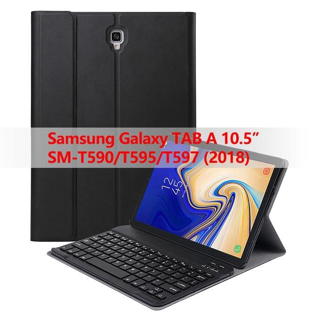 Съемный чехол для клавиатуры Samsung Galaxy Tab A 10,5 2018, Bluetooth, беспроводная клавиатура с функцией автоматического сна/пробуждения, для планшета Samsung Galaxy Tab A 10,5 2018, T595/T597