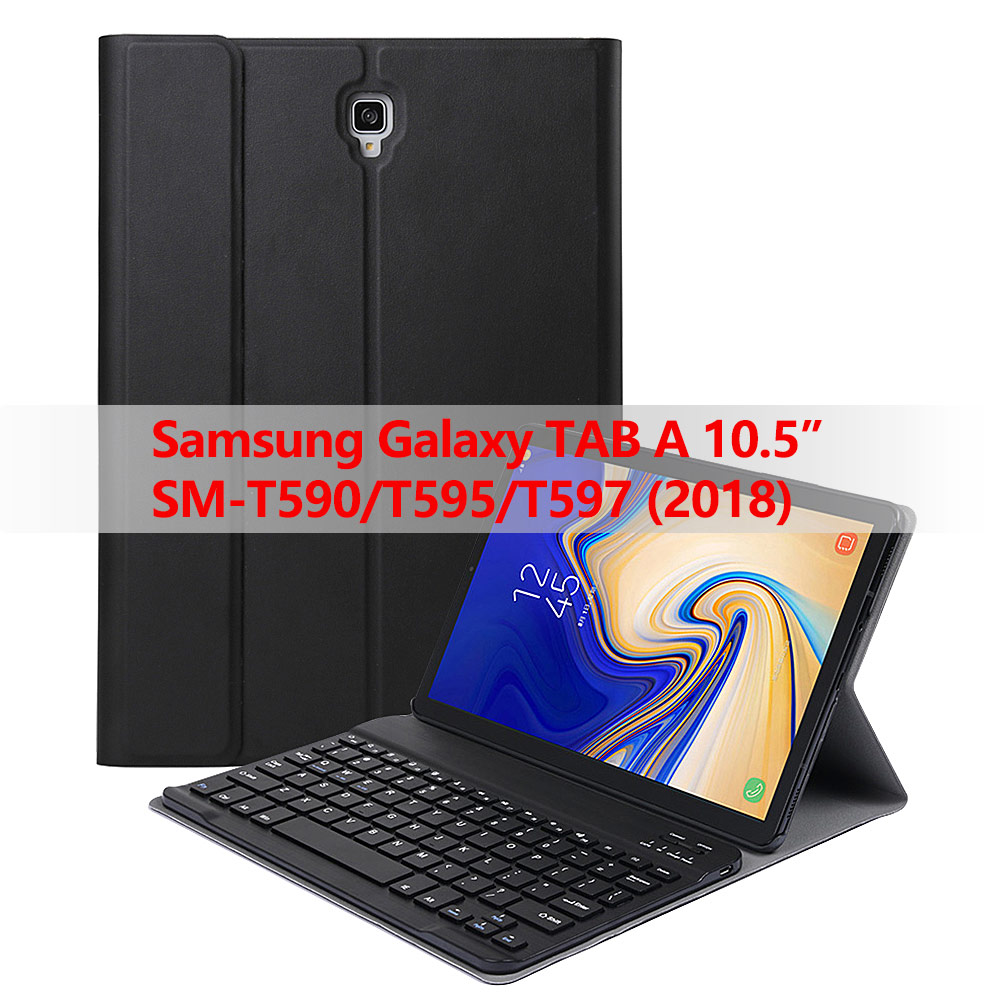 for Samsung Galaxy Tab A 10.5 2018 SM-T590/T595/T597 Tablet Detachable Bluetooth Wireless Keyboard case with auto sleep/wakefor Samsung Galaxy Tab A 10.5 2018 SM-T590/T595/T597 Tablet Detachable Bluetooth Wireless Keyboard case with auto sleep/wake