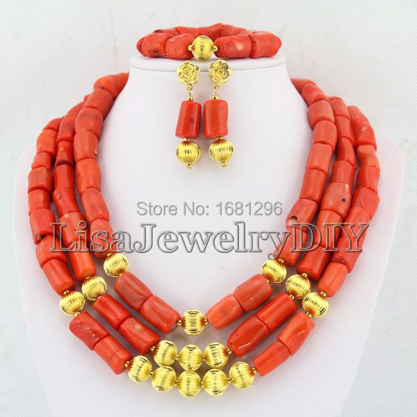 Fashion African Coral Beads Jewelry Sets Nigerian Wedding African Bridal Jewelry Set Free Shipping     HD0293Fashion African Coral Beads Jewelry Sets Nigerian Wedding African Bridal Jewelry Set Free Shipping     HD0293