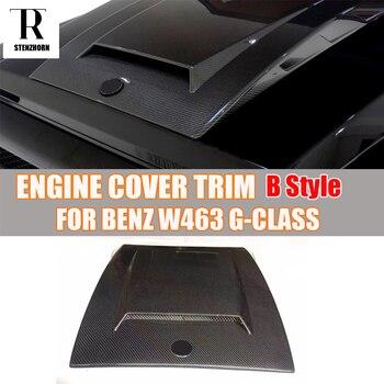 W463 B Style Carbon Fiber Engine Cover Hood Bonnet Trim for Mercedes Benz W463 G-Class G500 G500 G63 AMG