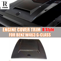 W463 B Style Carbon Fiber Engine Cover Hood Bonnet Trim for Mercedes Benz W463 G Class G500 G500 G63 AMG