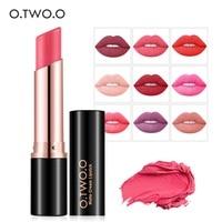 O TWO O Velvet Matte Lipstick Long Lasting Waterproof Lipgross Kiss Proof Makeup Moisturizing Lipbalm Lip