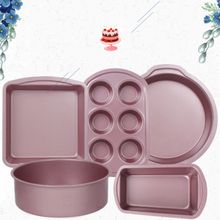 1 Pc Round Baking Pan Cake Bread Cupcake Pan Form Mold Carbon Steel Tin For Toast Loaf Pizza Muffin Oven Tray