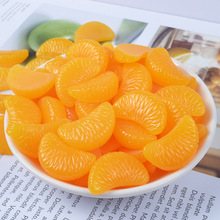New 8PCS Slime Charms Mini Orange Petals Plasticine Addition Slime Accessories Beads Lizun Making Supplies for DIY Kids Crafts E