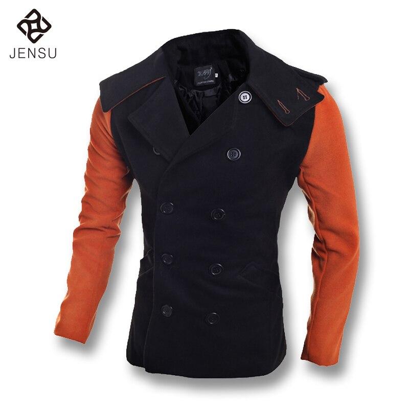 2016 Men Windbreaker Woolen Coat Jacket Men s Casual Fashion Slim Fit Spring Parkas Woolen Coat