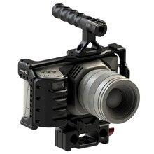 HONTOO BMD BMPCC 4 K กรง Rig DSLR RIG Cage Baseplate ที่จับด้านบน 15 มม. rig สำหรับ BlackMagic Pocket กล้อง Cinema 4 K