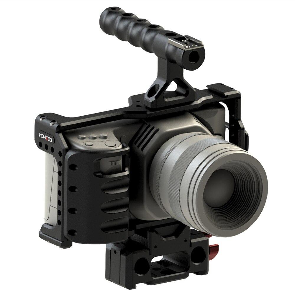 HONTOO BMD BMPCC 4 K клетка Rig DSLR RIG каркасная плита с верхней ручкой 15 мм камера установка для BlackMagic Карманный кинотеатр камера 4 K-in Аксессуары для фотостудии from Бытовая электроника