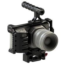HONTOO BMD BMPCC 4K Cage Rig DSLR RIG Cage Baseplate Top Handle  15mm camera rig FOR BlackMagic Pocket Cinema Camera 4K