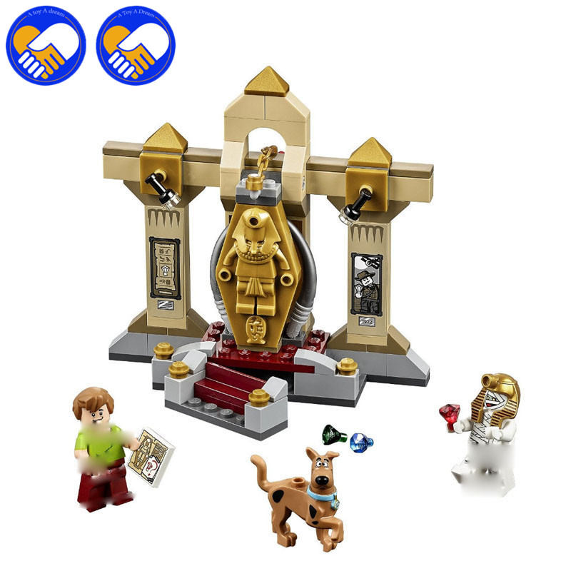 A TOY A DREAM NEW 109pcs Blocks Scooby Doo 10428 Mummy Museum Stery font b Building
