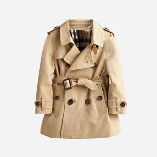 206d62c9126fd Fashion New 2016 Trench Coat Boys Autumn Spring Warm Korean Children  Clothes Kids Boys Windbreaker Jacket Fashion 70F1577