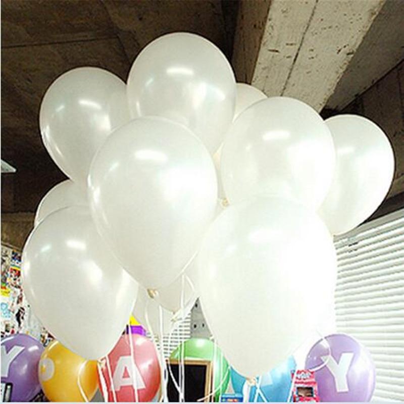 10pcs/lot 10inch Milk White Latex Balloon Inflatable Air Balls Childrens Birthday Party Balloons Wedding Decoration Float Balls