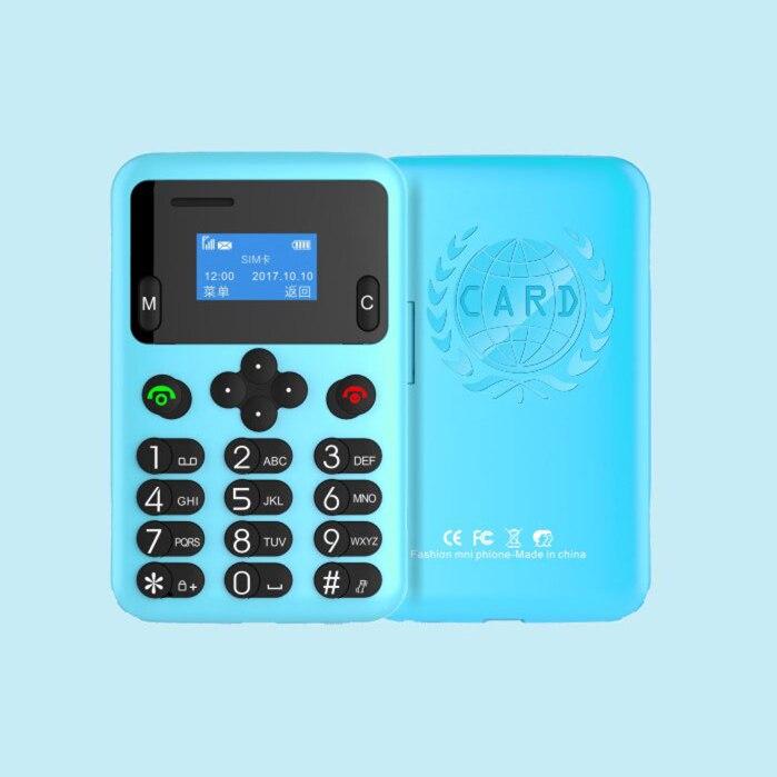 MINI Card Phone AEKU A6 0 96Inch Tiny Screen Ultra Thin Cellphone Dual Band GSM Big