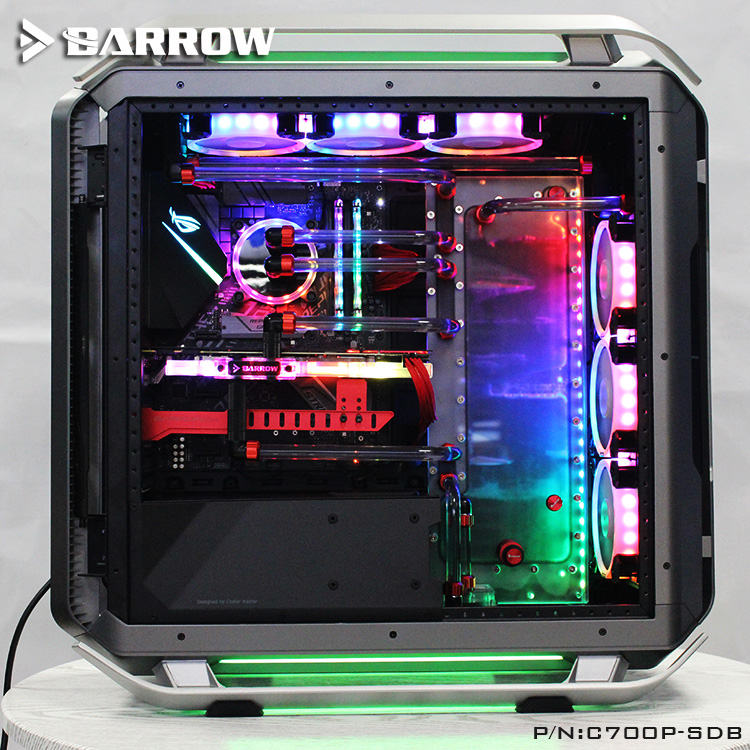 Barrow C700P-SDB, Waterway Boards For CoolerMaster C700P Case, For Intel CPU Water Block & Single/Double GPU/Pumps Building цена и фото