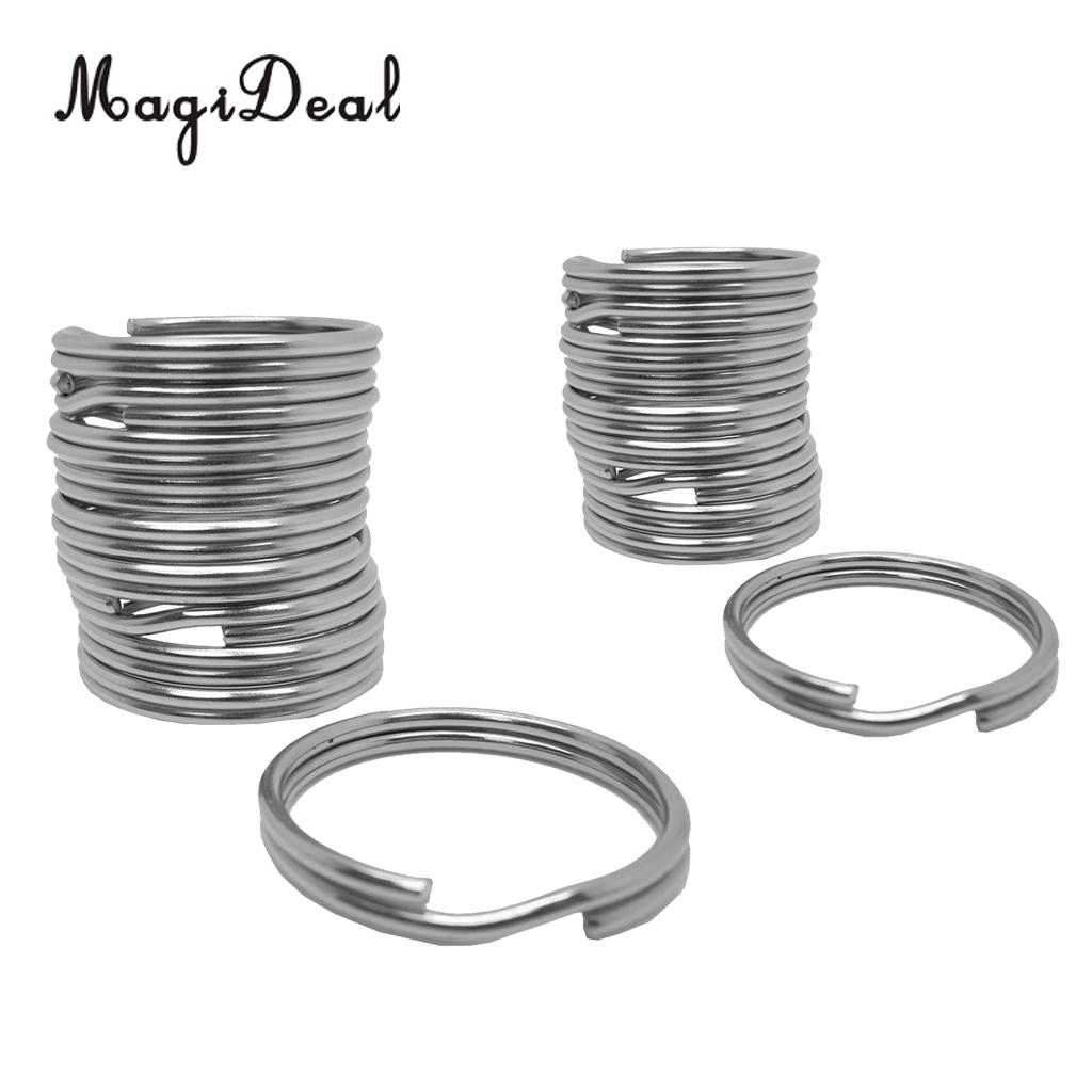 10 Pieces Durable Scuba Diving Stainless Steel Split Ring For Gear Attachment 22mm/30mm For Swimming Climbing Camping Accessory