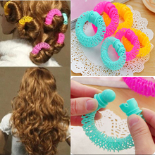 купить 8Pcs/Pack Plastic Hair Curler Magic Hair Curlers Rollers Magic Circle Accessories For Hair Curling Spirals Braider Styling Tools дешево
