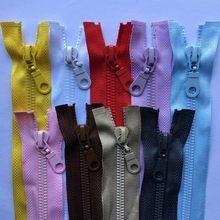 Zipper de resina aberto 3 peças, comprimento de 5 #70cm 80cm alta qualidade cor verde preto azul acessórios de costura para esportes