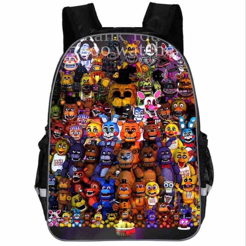 Freddy Backpack Animal Anime FNAF Chica Foxy Undertale Sans Casual School Bags Toddlers Boys Girls Teenager Mochila Gift Bolsa