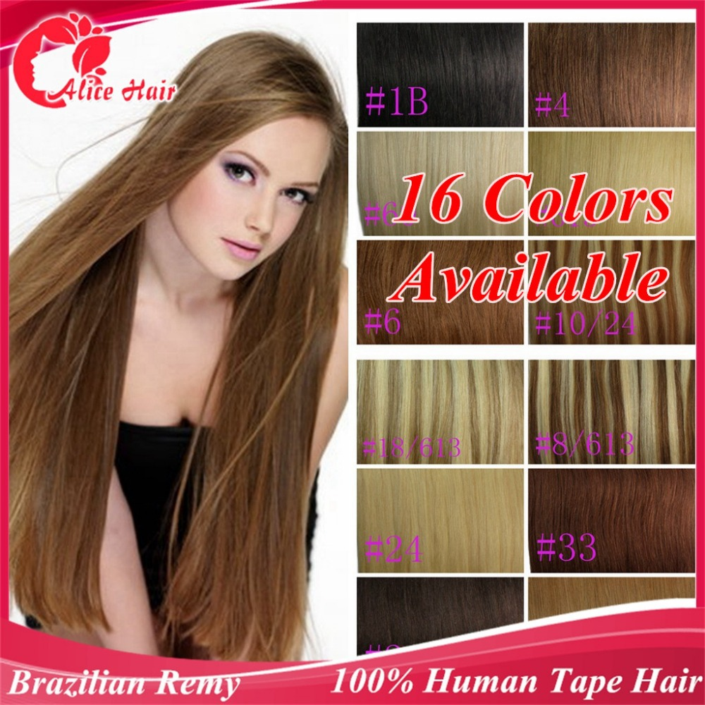 Tape Hair Extensions 2040 Pieceshuman Remy Tape In Skin Weft1b