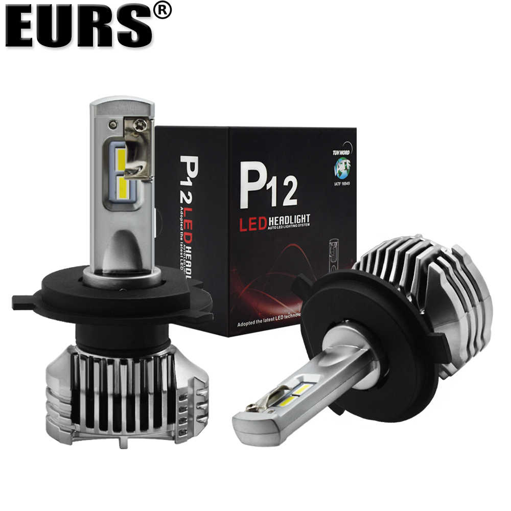 EURS Super bright P12 Car Led Headlight Bulb 90W 13000lm headlamp 6000K H4 H7 H11 9005 9006 9012 H15 C 5202 D1 D2 Car headlight