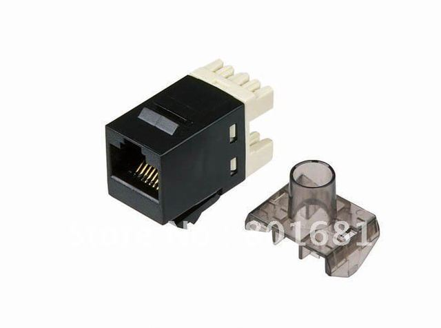 Free Shipping+Brand New Lot=50 RJ45 Keystone jack Network Jack Cat 6 {black+Wholesales)
