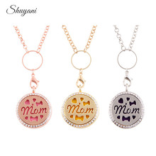 10pcs/lot Fashion Alloy 30mm Round Glass Floating Locket with Chain Aromatherapy Essential Oils Perfume Diffuser Necklace