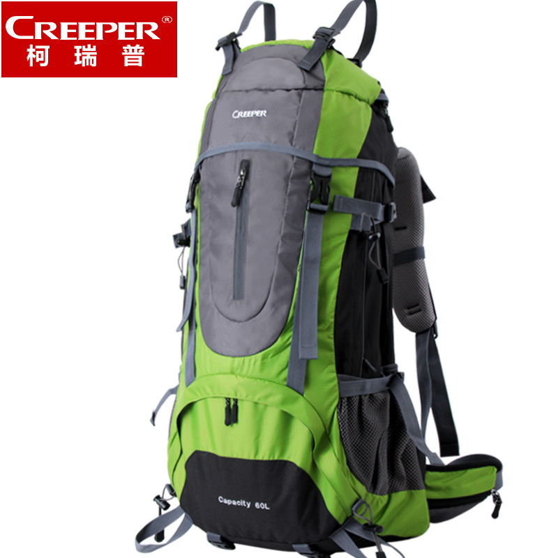 Creeper Camping Backpack 60L Hiking Daypack For Men And Women Nylon Waterproof Traveling Backpack Outdoor Climbing Sports Bag locallion brand 40l outdoor sports backpack for hiking camping climbing fishing women men waterproof nylon big knapsack xa562yl