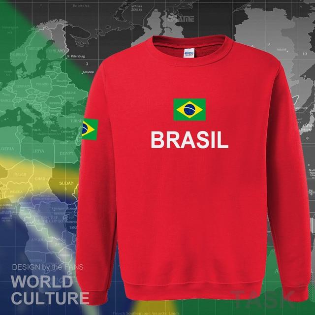 Brazil hoodie men sweatshirt sweat new streetwear 2017 tops jerseys clothing tracksuit nation Brazilian flag Brasil fleece BR 4