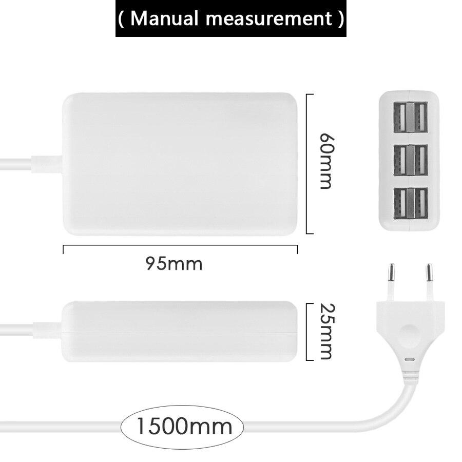 SUMPK 5V6A Adaptador de cargador de pared USB 6 puertos Cargador - Accesorios y repuestos para celulares - foto 6