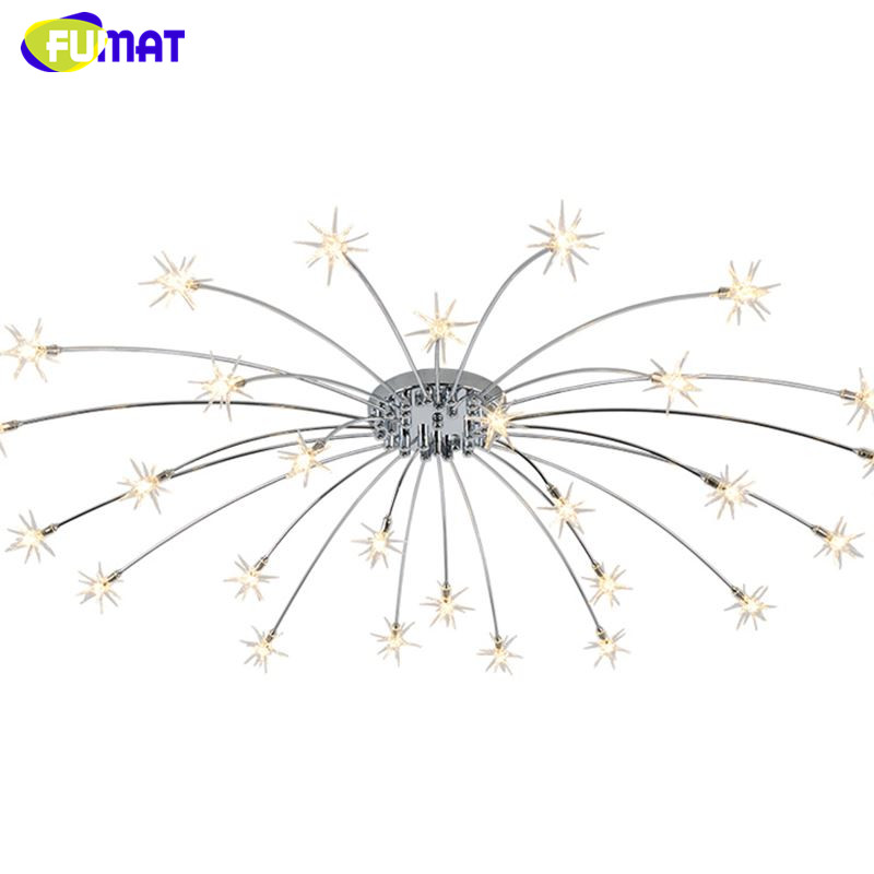 fumat modern round g4 led crystal glass stars ceiling