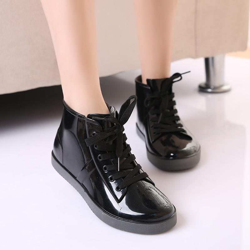 Gtime eső csizma Női vízálló csizma csipke-divat divatos női kabátok boka csizma alkalmi női csizma cipő méret 35-40 ZH3
