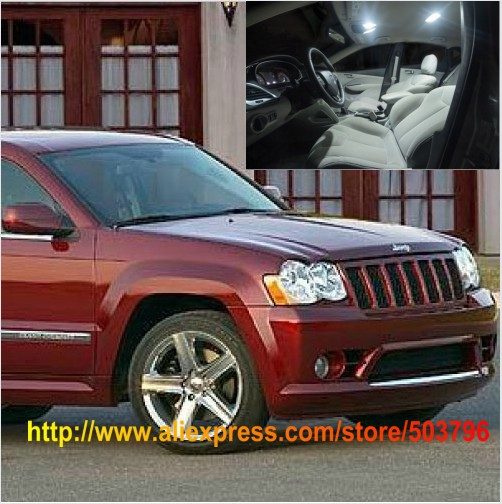 Free shipping 12pcs lot white interior led lights for jeep - 2010 jeep grand cherokee interior ...