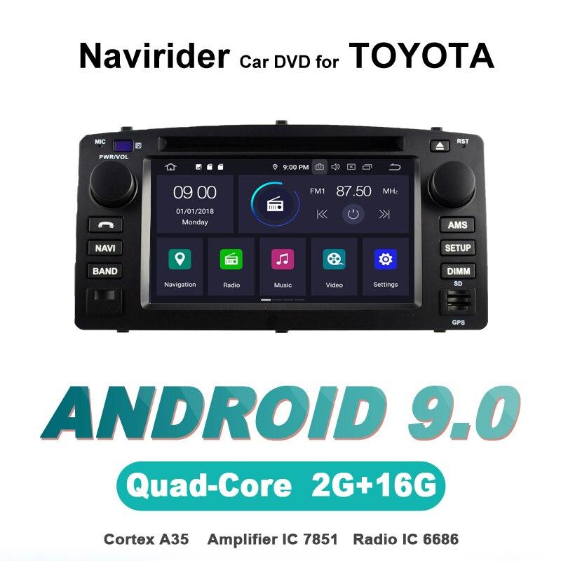 Navirider OS 9.0 lecteur Android de voiture pour TOYOTA COROLLA E120 2006 stéréo autoradio gps navigation TDA7851 amplificateur système de son