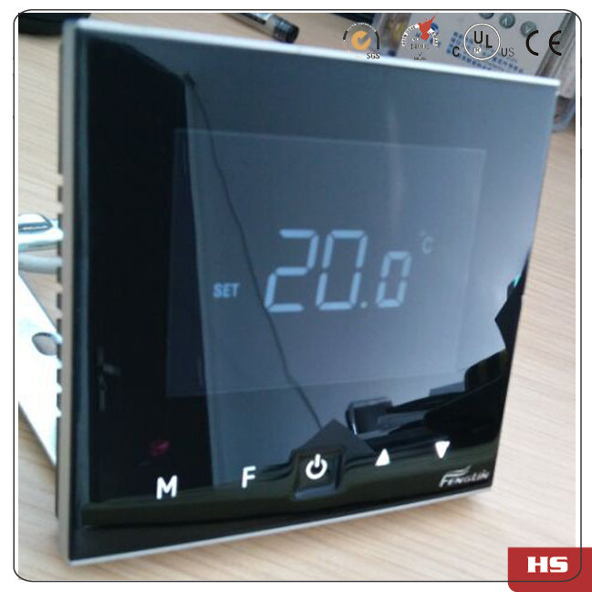 Power reset Smart Home HVAC touch button room thermostat with 5KW 100-240VAC цены онлайн