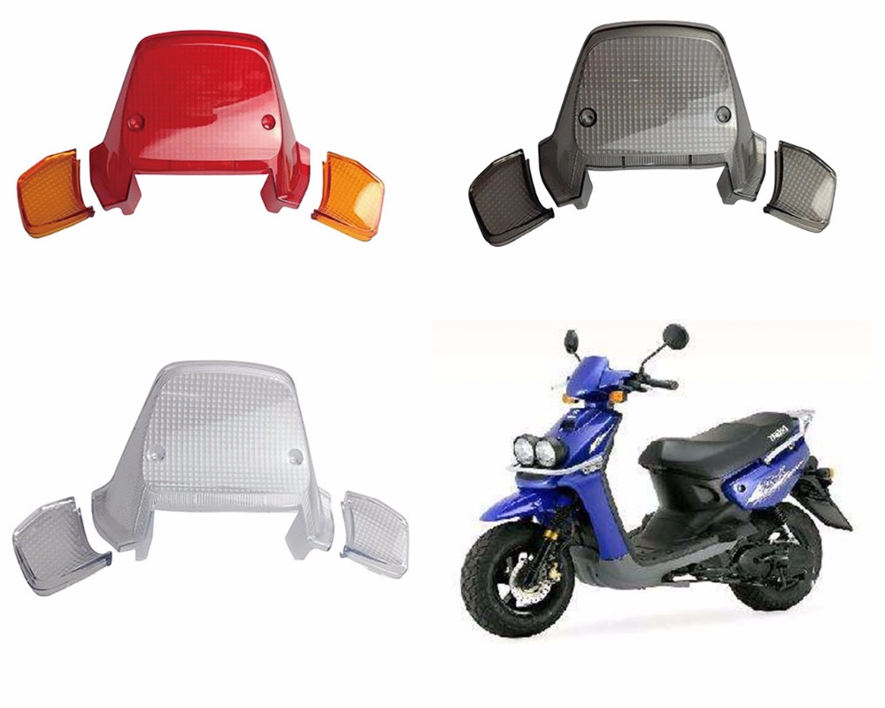 For YAMAHA BWS100 Motorcycle Scooter Taillight Plastic Glass Cover Brake Taillight Glass Cover Taillight Cover