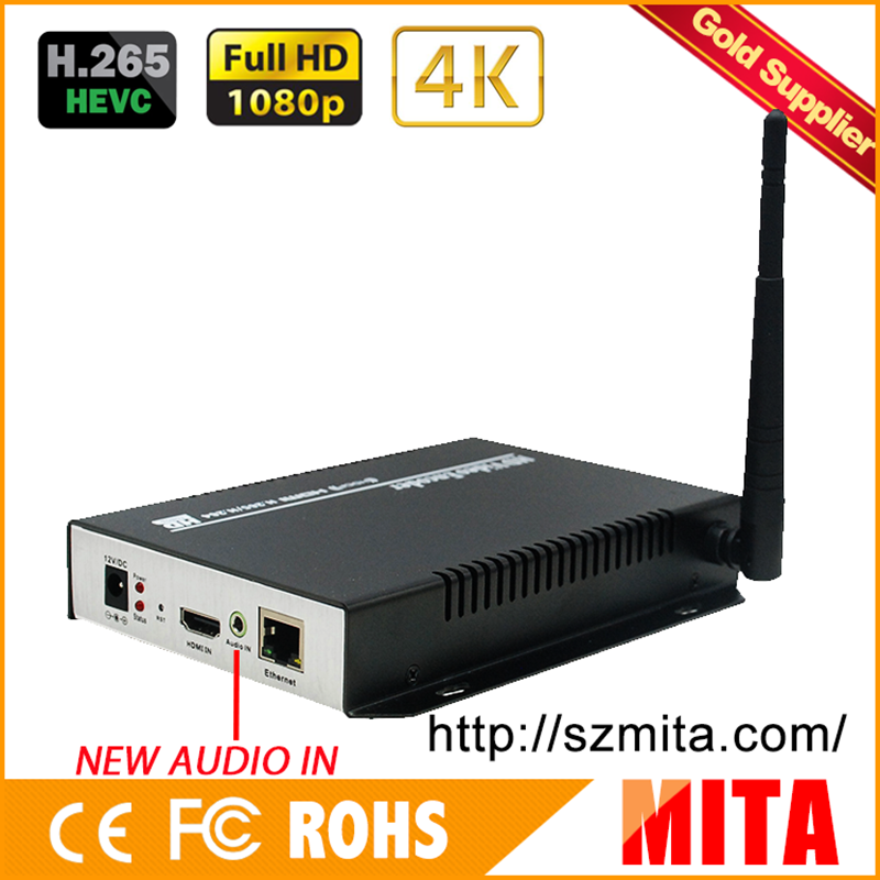 HD H.265 4K hdmi iptv encoder WiFi for Live Streaming to Youtube Wowza Facebook Ustream