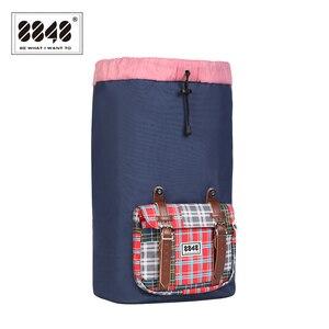 Image 5 - حقيبة ظهر للسفر من علامة تجارية 8848 حقيبة ظهر مقاومة للماء مقاس 15.6 بوصة حقيبة ظهر من مادة البوليستر بتصميم هندسي S15005 6