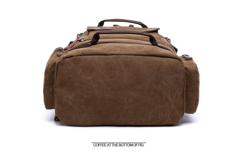 Men Laptop Backpack 15 Inch Rucksack Canvas School Bag Travel Backpacks for Teenage Male Notebook Bagpack Computer Knapsack Bags 11