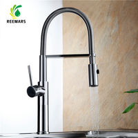 Genuine REEMARS Full Copper Hot And Cold Spring Pull Out Type Kitchen Faucet Washing Dishes Basin