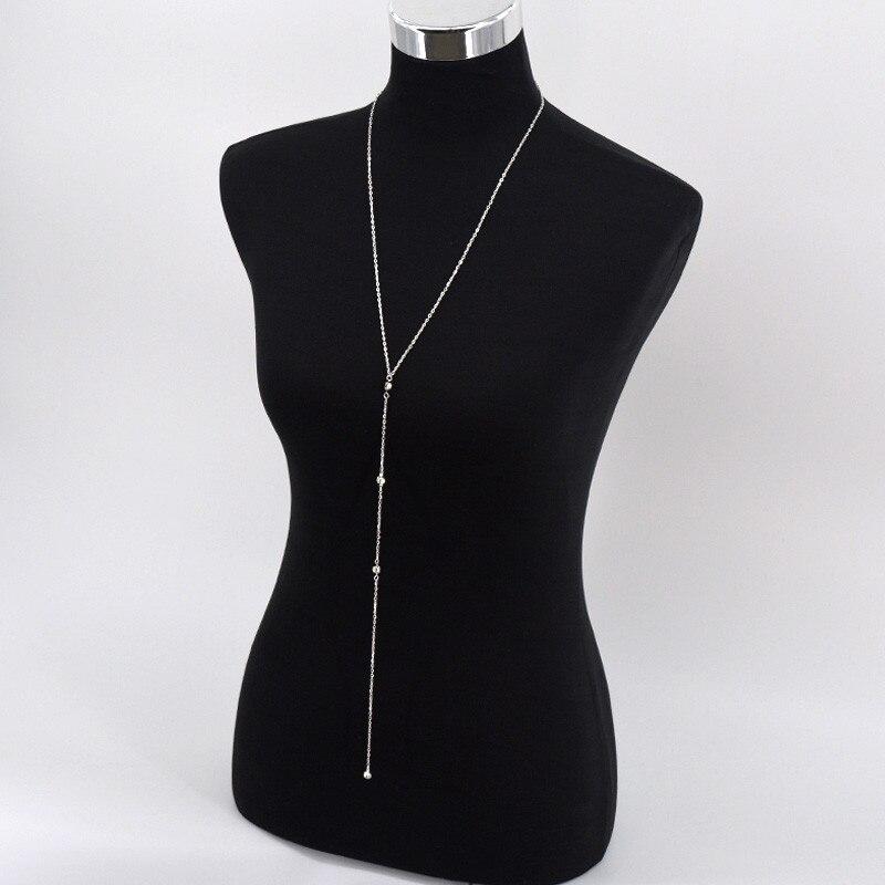 Boho Beach Bikini Bib Crystal Wedding Dress Backdrop Back Body Chain NECKLACE
