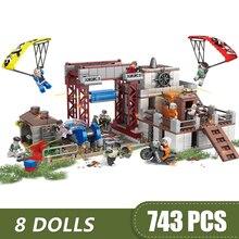 743 шт., маленькие строительные блоки, совместимые с Legoe, игра PUBG, игрушки для детей, подарок для девочек и мальчиков, сделай сам