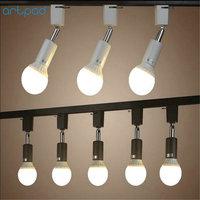Artpad 15pcs/Pack Easy Mount LED Pendant Track Light E27 Base Metal Clothes Shop Hotel Track Rail Spotlight Lamp Fixture