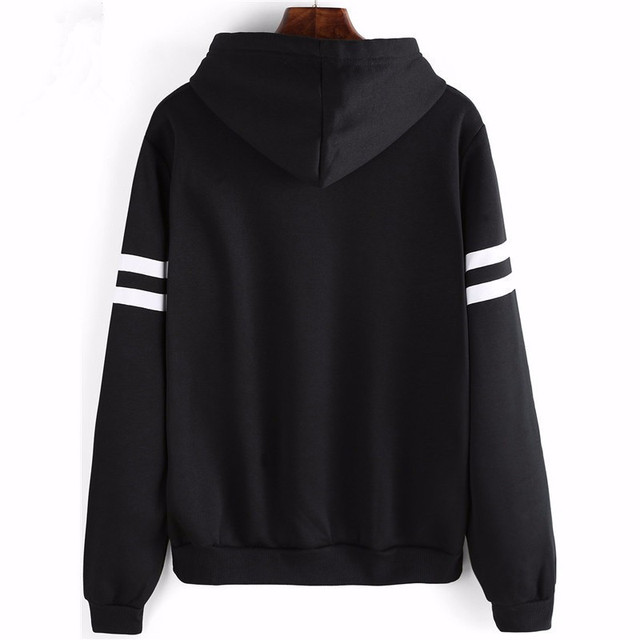 FLULU 2018 New Autumn Winter Fashion Pop Women Hoodies Printed Black Ladies Hoodies Kawaii Loose Streetwear Sweatshirt Mujer Bts