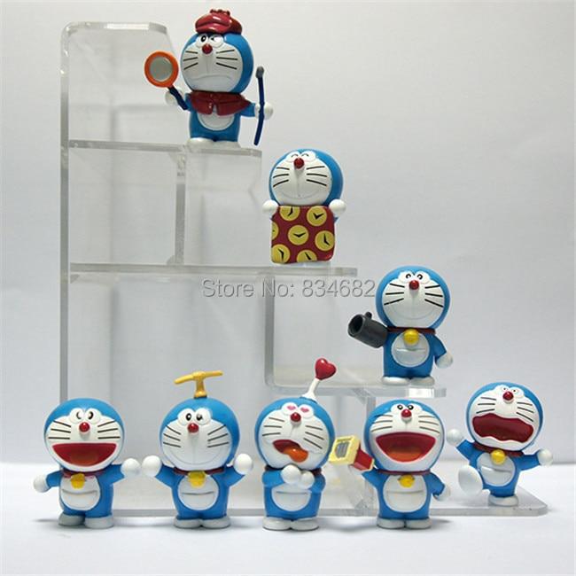 J.G Chen Anime Cartoon Cute Doraemon Mini PVC Figure Model Toys Dolls 8pcs/set Child Toys Christmas Gifts