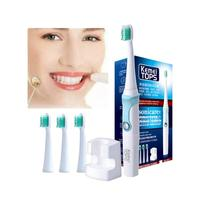 1PCS Fashion Battery Operated Electric Toothbrush With 3 Brush Heads Oral Hygiene Health Products Dropship 1