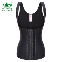 Cn Herb Adjustable Shoulder Belt 4 Reinforcement Latex Body Fat Burning Breasted Vest, Rubber Corset